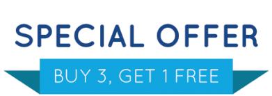 Special offer - Buy 3, get 1 FREE